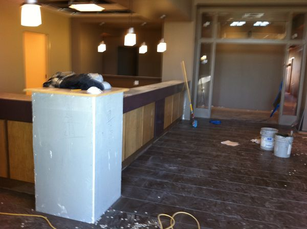 New Tile In The Lobby Steel Accents Ready For Install